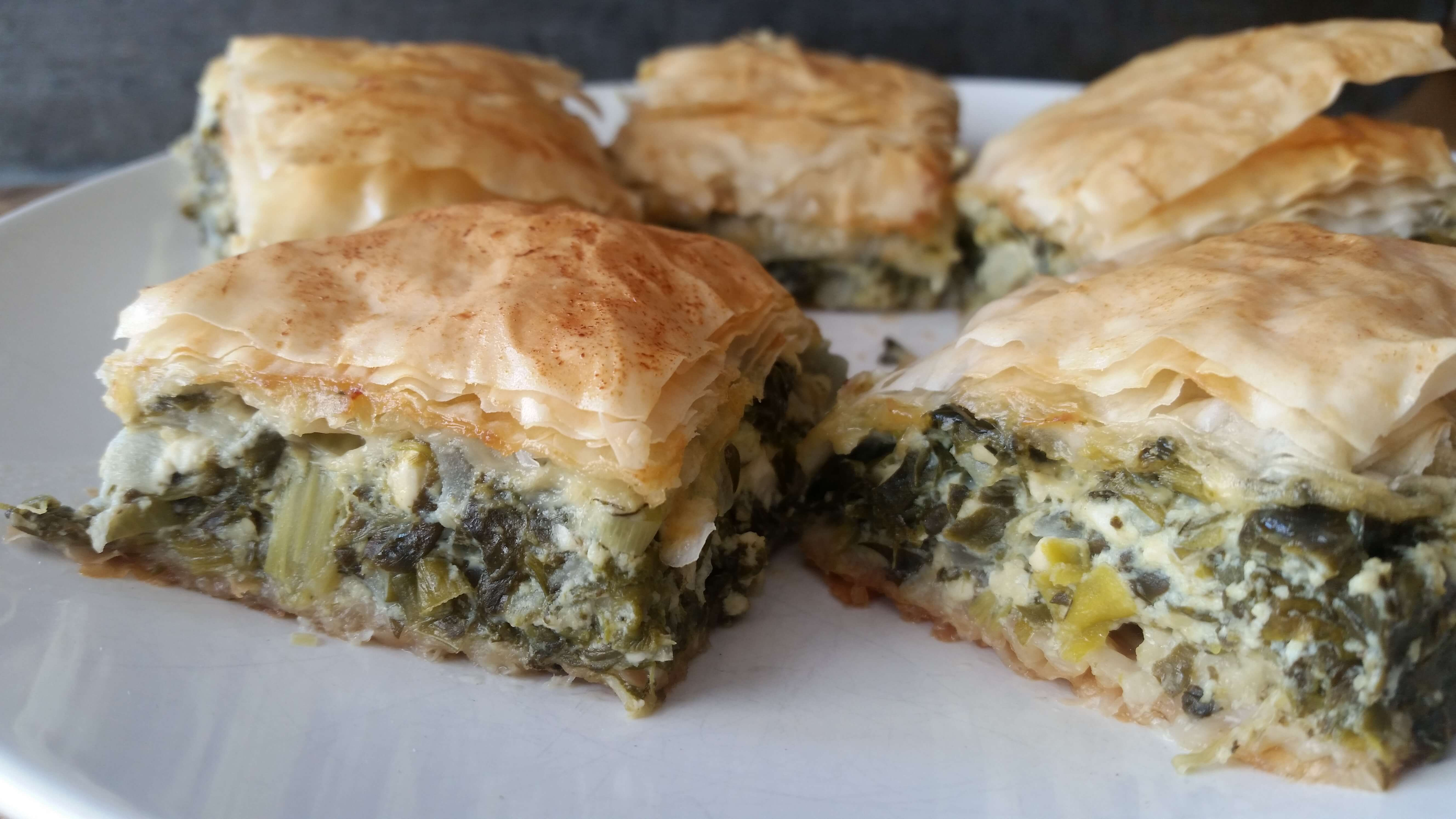 Borek Turkish Style Spinach And Cheese Savory Pie A Good Carrot
